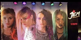 jem holograms music movie poster faces aja kimber shana sign lights