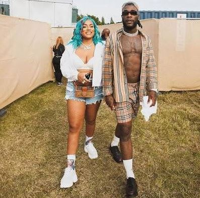 Burna Boy & his girlfriend Stefflon Don spotted hanging out at a beach in Lagos