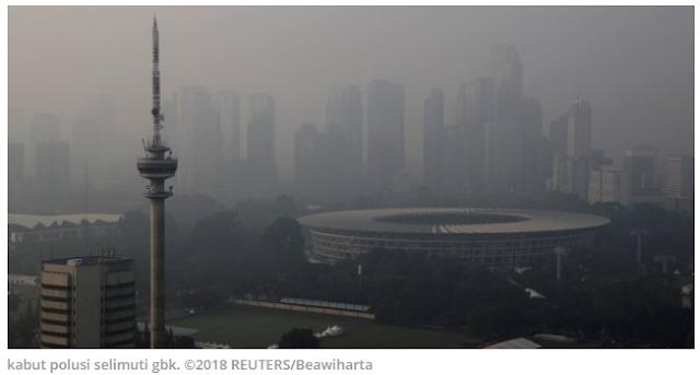 Pagi Ini, Jakarta Jadi Kota Paling Polusi Kedua di Dunia