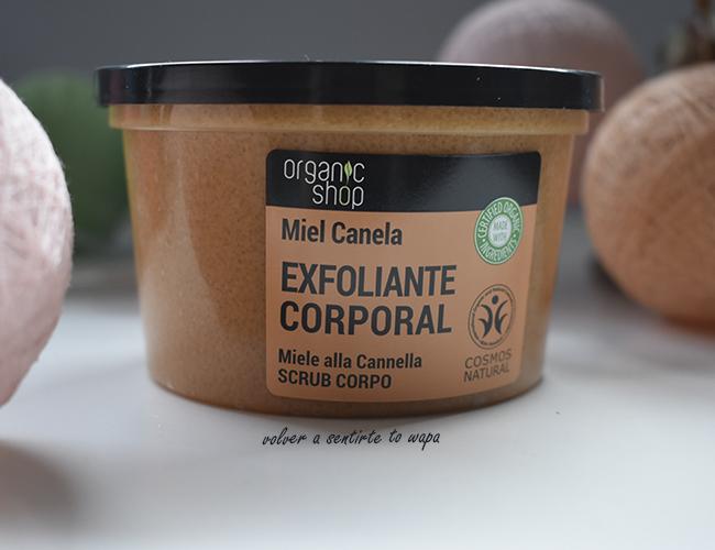 Exfoliante Corporal natural de Organic Shop - Canela orgánica y Miel