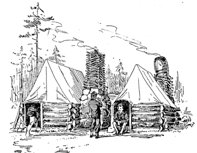 stockade and tents in civil war pencil drawing from wpclipart.com