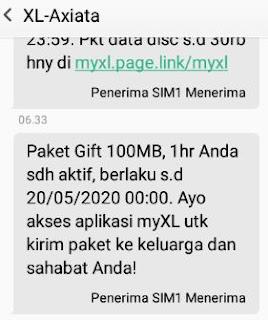 kuota gratis xl 100 mb untuk nelpon_sms_internet -paket xtra gift sudah aktif