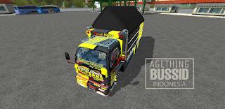 Download mod bussid truk cabe terpal segitiga