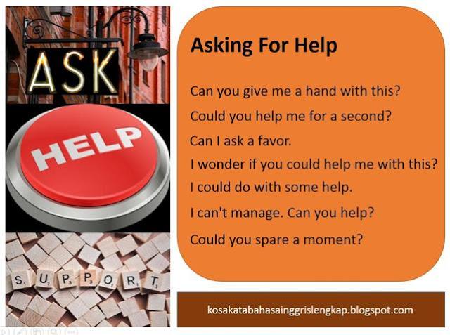 Contoh Ekspresi Asking For Help - meminta bantuan dalam bahasa Inggris