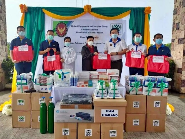 CPF Philippines joins hands Manila's Royal Thai Embassy offers medical supplies to frontline staff battling Covid-19.