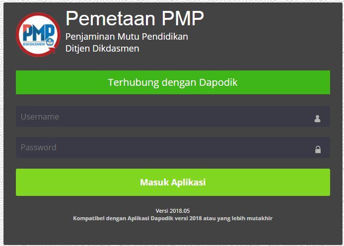 Aplikasi pemetaan Mutu Pendidikan PMP 2018.05