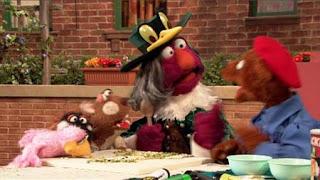 Telly, Baby Bear, Sesame Street Episode 4325 Porridge Art season 43