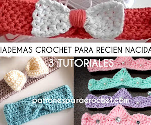 Diademas de bebé a crochet | 3 tutoriales en video en español