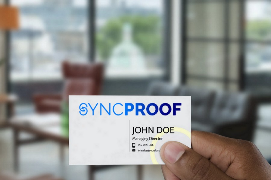 SyncProof Mock Card
