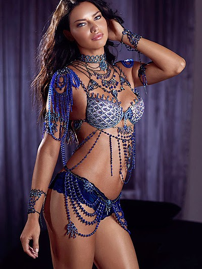 Adriana Lima present just two Fantasy Bra