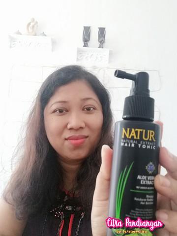 katakan tidak pada rambut tipis dengan natur tonic