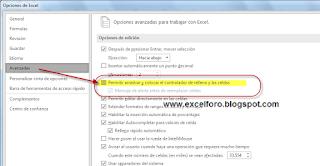 Opciones de Autorelleno de Excel