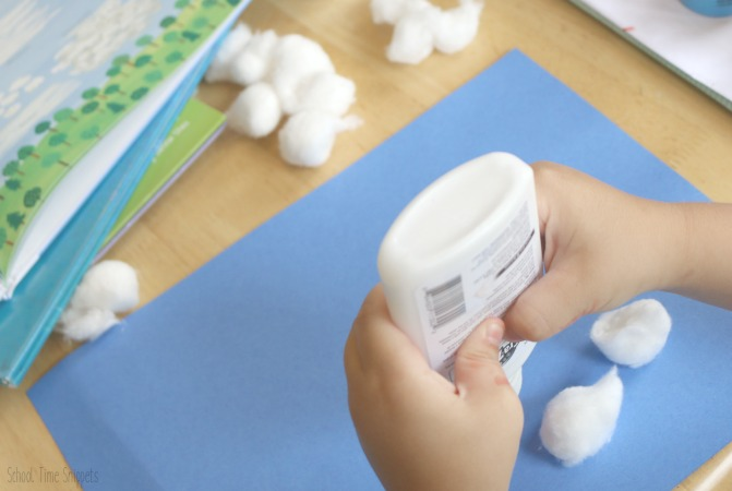 Cotton Ball Preschool Process Art