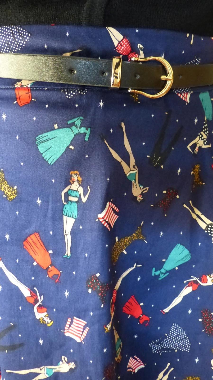 jupe à motifs originaux pinup collectif clothing london