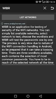 شرح وتحميل تطبيق WIBR لاختراق الواي فاي WIFI عبر تقنية BruteForce