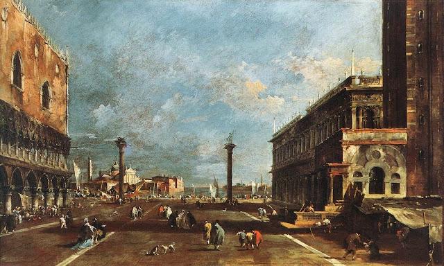 The Piazzetta by Francesco Guardi
