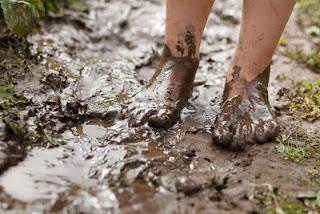 chuva e lama