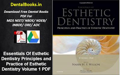 Essentials Of Esthetic Dentistry Principles and Practice of Esthetic Dentistry Volume 1 PDF