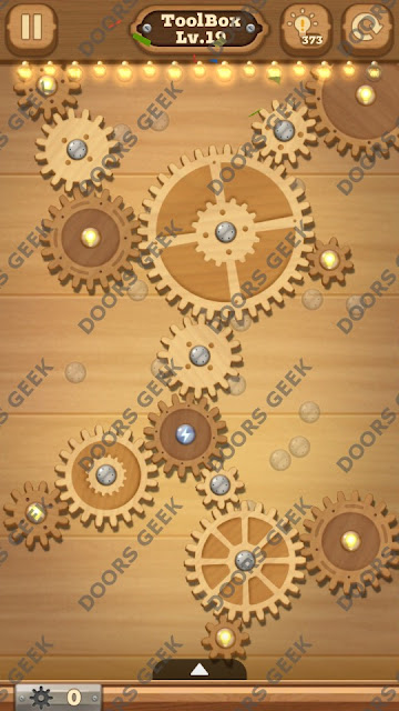 Fix it: Gear Puzzle [ToolBox] Level 19 Solution, Cheats, Walkthrough for Android, iPhone, iPad and iPod