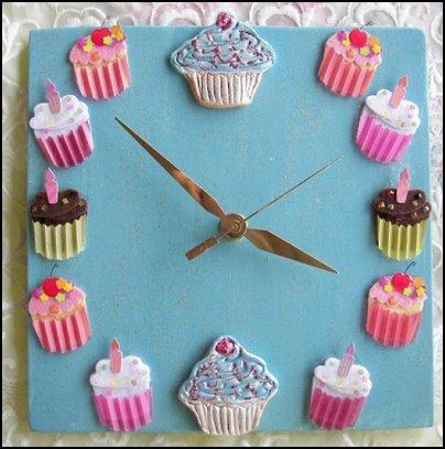Cupcake Clock Cupcake Design  CUPCAKE DECOR CUPCAKE ROOM  DECOR