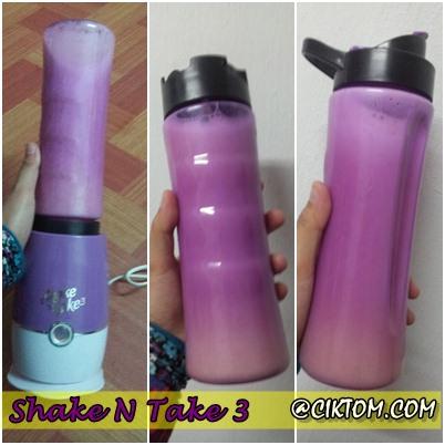 Buat Jus mudah dengan Shake N Take 3