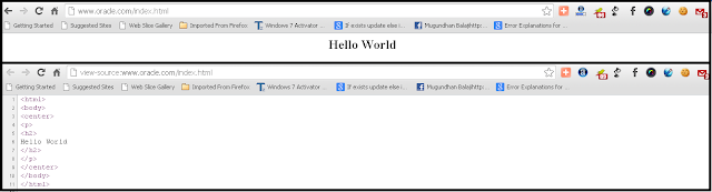 "Oracle website saying - ""Hello World"" , is it a Hack ?"