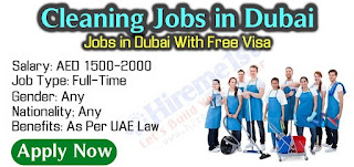 Male & Female Cleaners ( 230 Nos ) Jobs Recruitment in Reputed Facilities Management company in Dubai