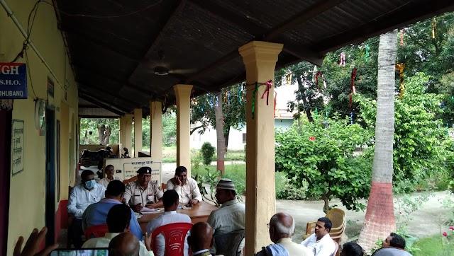 मधवापुर में हुई चेहल्लुम को लेकर शांति समिति की बैठक