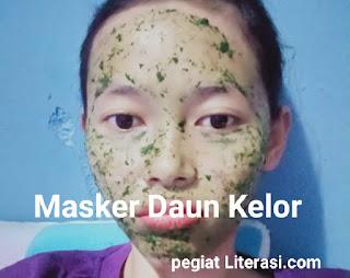 Masker wajah daun kelor