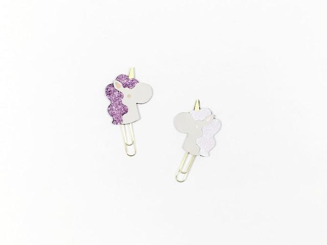 Glitter Unicorn Paper Clip DIY