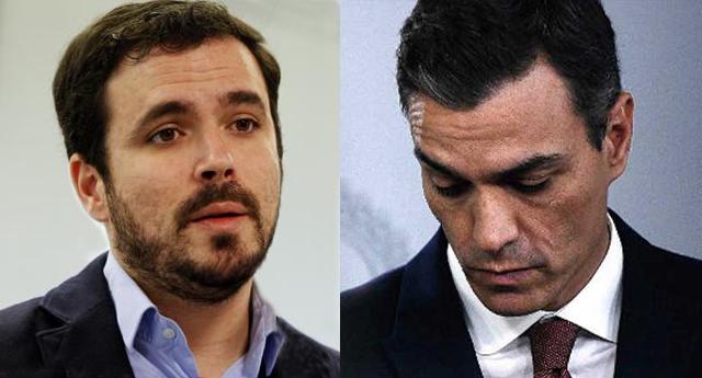 Garzón critica en twitter las declaraciones de Sánchez contra Unidas Podemos