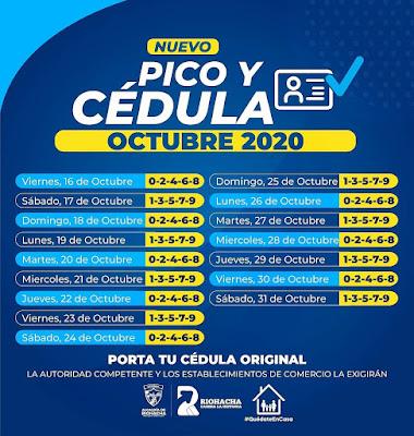 hoyennoticia.com, Hasta el 31 de octubre siguen restricciones en Riohacha