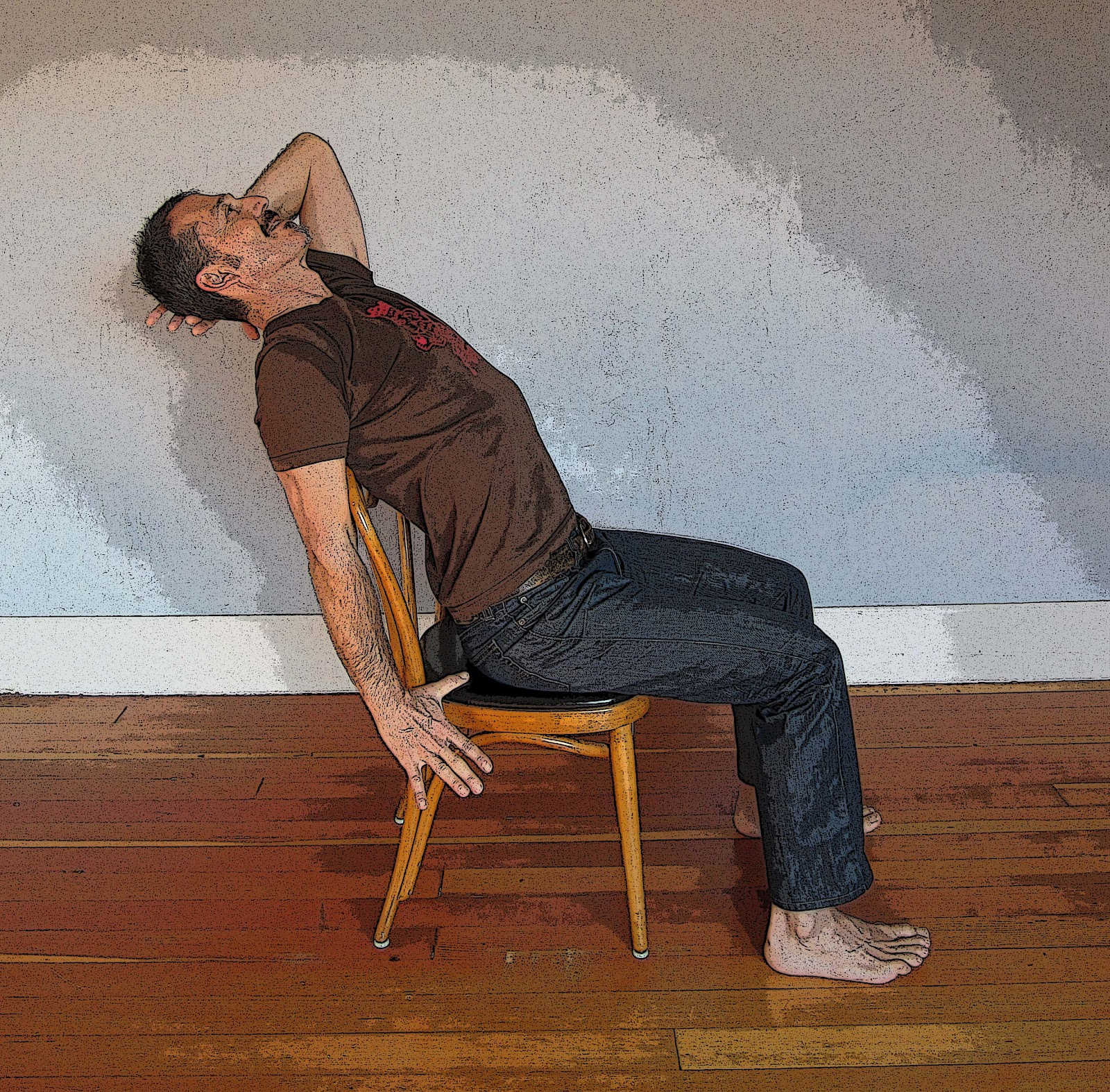 YOGA FOR HEALTHY AGING: Featured Pose: Simple Chair Backbend