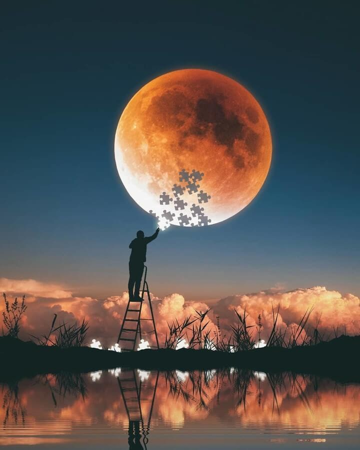 11-The-Moon-Puzzle-Herri-Susanto-Digital-Art-www-designstack-co
