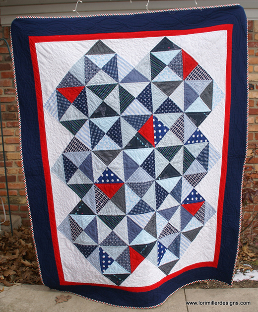 Liberty Quilt of Valor designed by Lori Miller of Lori Miller Designs