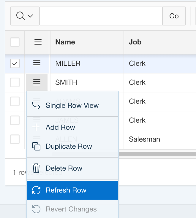Push changed rows to an Interactive Grid
