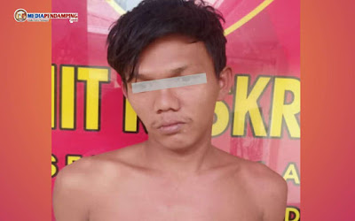 Polsek Medan Area Sukses Amankan Seorang Pria Pencuri Peranca Mesjid di Tangguk Bongkar