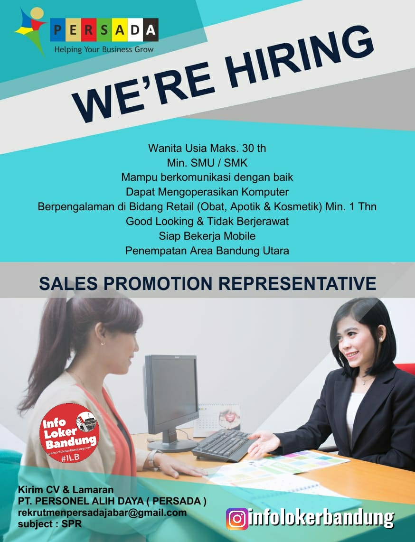 Lowongan Kerja Sales Promotion Representative PT. Personel Alih Daya ( Persada ) Bandung Juni 2020