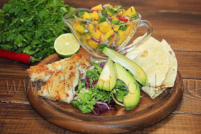 рецепт тако с рыбой и сальсой с пошаговыми фото