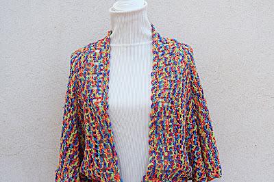 3 - Crochet IMAGEN Linda chaqueta mariposa a crochet y ganchillo fácil y rápida. MAJOVEL CROCHET