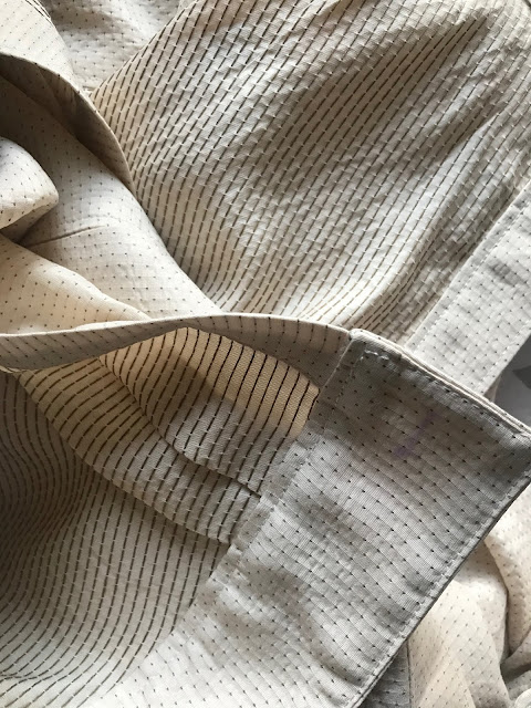 Diary of a Chain Stitcher: Paper Theory Olya Shirt in Stitched Silk/Cotton from The Fabric Store