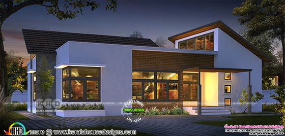 Ultra modern Single floor house design 15 Lakhs