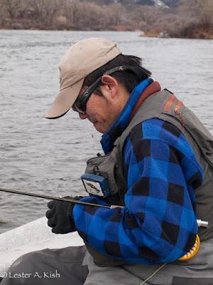 Satoshi Yamamoto, fly fishing guide, Montana
