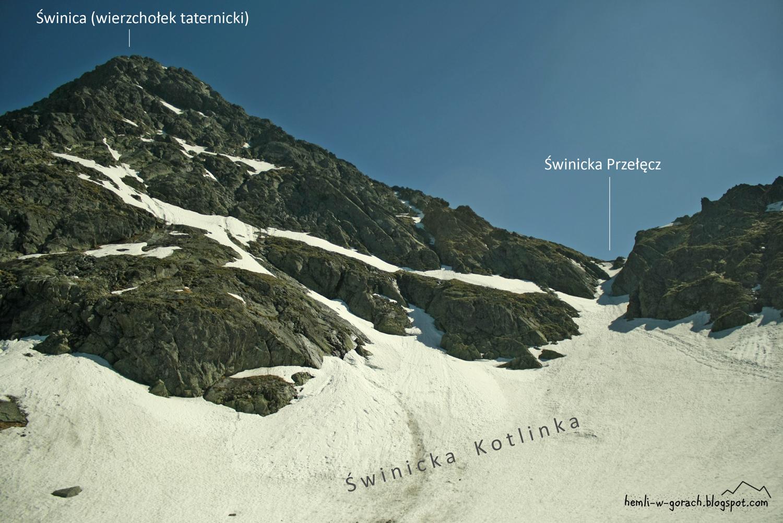 Widok na Świnicką Przełęcz ze Świnickiej Kotlinki (z czarnego szlaku)