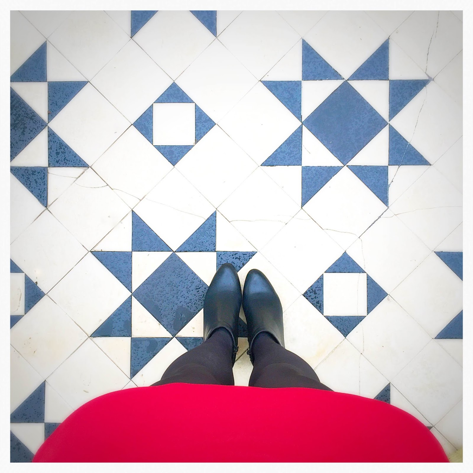 Kensington flooring tiles London fashion shoot
