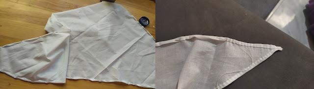 Processo de costura lenço século XVIII