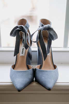 blue gray wedding shoes