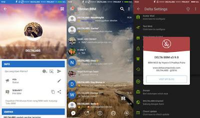DELTA BBM V3.9.0 Update Base BBM V3.2.0.6 Apk