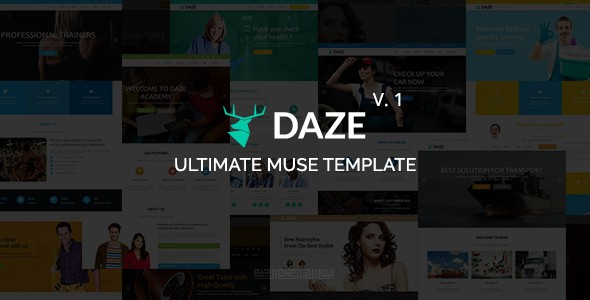 DAZE Ultimate Multipurpose Muse Template