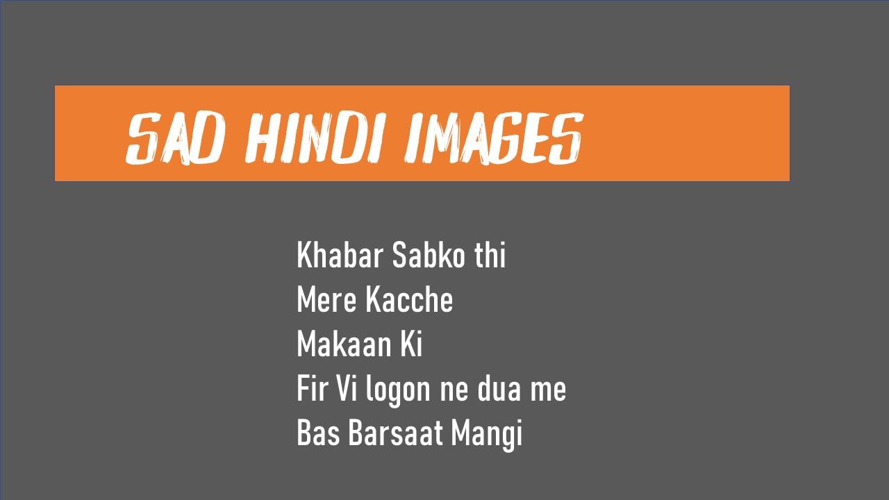 Sad Life Shayari Image
